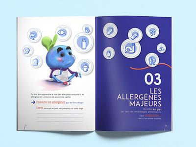 Allergene brochure illistration edition graphic  design character creation