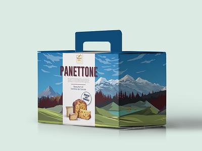 panettone box packagingdesign graphic  design illustration