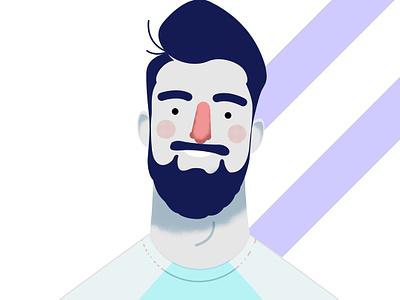 Face flat  design character design illustration