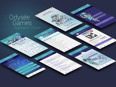 Odysée Games character design illustration graphic  design mobile app design mobile app ui