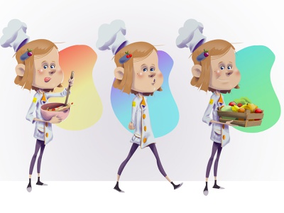 little chef character creation draw edition illustration graphic  design characterdesign