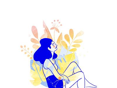flower flowers woman draw edition character design graphic  design illustraion