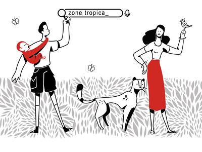 folia tropical color design animal branding flat  design draw character design illustration graphic  design