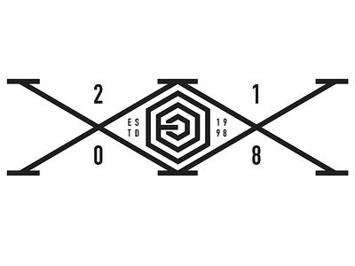 Eric Okdeh 20years estd established xx monogram logo anniversary years year 20 design art
