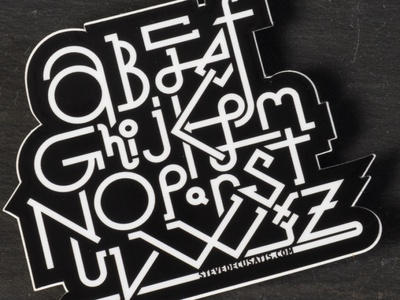 ABCD sticker c b a abcd bw blackandwhite geometric vinyl design lettering letters letter typography type abc sticker