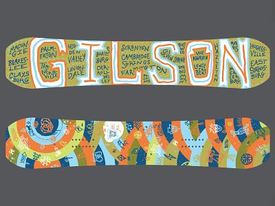 Penna Pride Snowboard board graphics illustration design pennsylvania snow gilson gilson pride snowboard pa