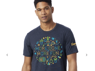 More Done. More Fun. pa co-working space co-working co-work coworking space coworking space cowork kismet icons icon illustration t shirt t-shirt t tee apparel graphic design design shirt