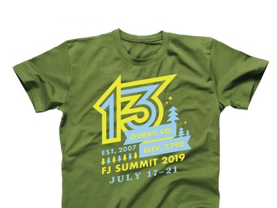 FJ Summit 2019 stars star trees tree 2019 13 type design clothing shirts shirt apparel colorado co ouray summit fj