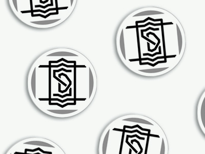 SD badge charm type logo badge sd stickermule charm
