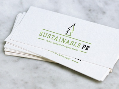 Sustainable PR Logo / Business Card branding brand graphic design design protect mother nature earth trees tree arrow good world planet green logo pr sustainability sustainable