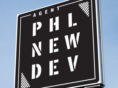 Agent PHL NEW DEV phila development dev new agent phl branding brand signage sign real estate real agent philadelphia philly phl logo