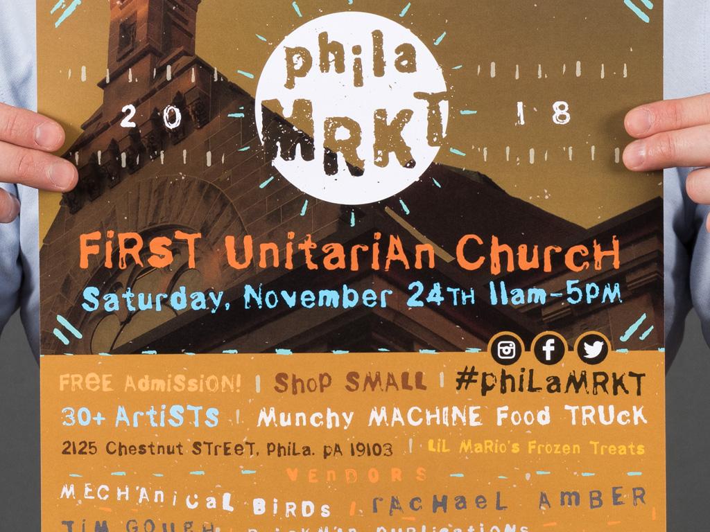 PhilaMRKT Poster logo design poster typography type artist art market philamrkt phila