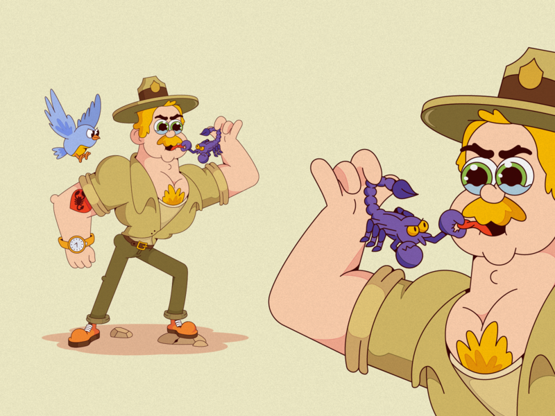 Ranger birds rander characterdesign cartoon illustration cartoon character cartoon character vector illustration flat illustration flatdesign flat