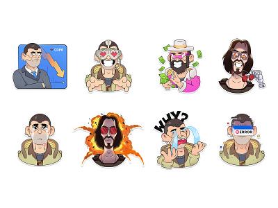 Cyberpunk stickers telegram telegramstickers stickers cuberpunk characterdesign cartoon cartoon illustration cartoon character character flat illustration illustration flat vector