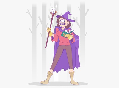 Marvel help mystical magic witch characterdesign cartoon illustration cartoon character cartoon character vector illustration flat illustration flatdesign flat