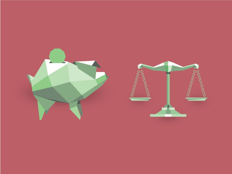 Low Poly Finance Icons low poly piggy bank balance scale investment pig polygon illustration finance money freelance