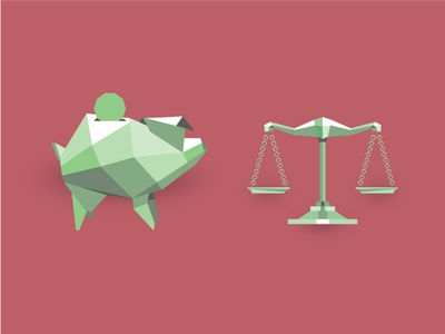 Low Poly Finance Icons