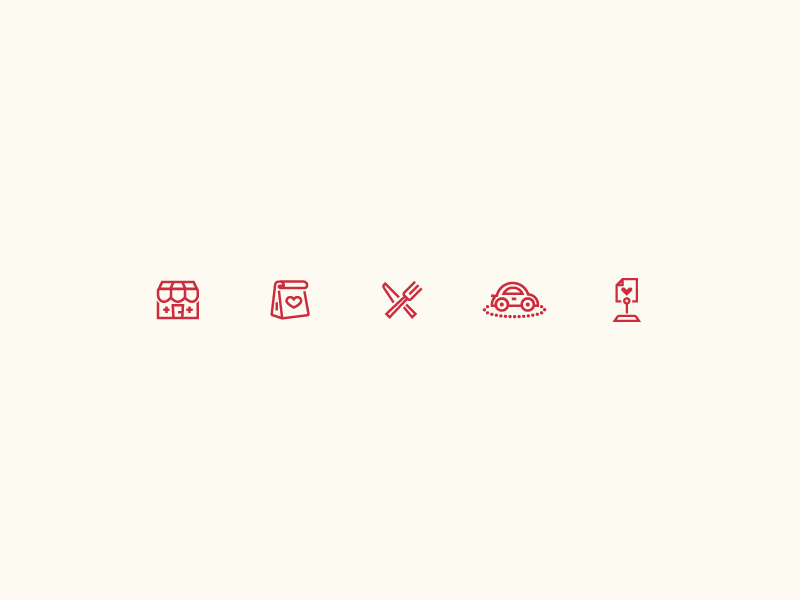 Orderup iOS Icons app ios utensils eat restaurant order orderup linear outline icon food delivery