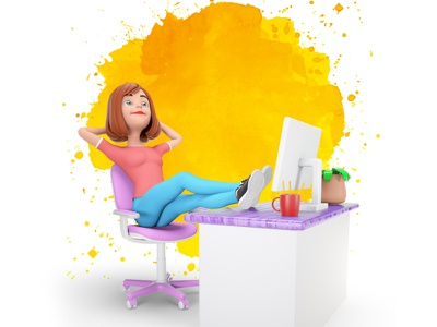 3D Dream octanerender 3dsmax design 3d character render illustraion