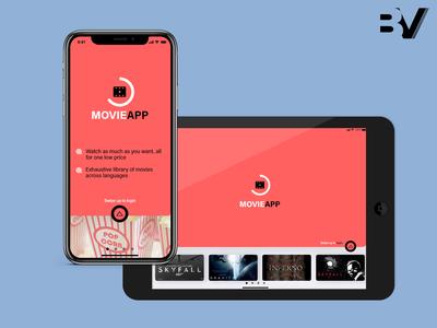 Movie App - Landing page