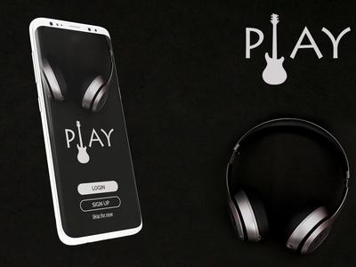 Landing page - Music app