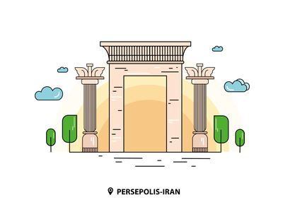 Persepolis | IRAN persian palace persian palace persepolis iran shiraz vector irsodeh illustration digitalart flat illustration flatdesign