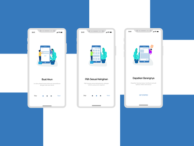 Onboarding Screen : Search Box iphone x app ux ui illustration
