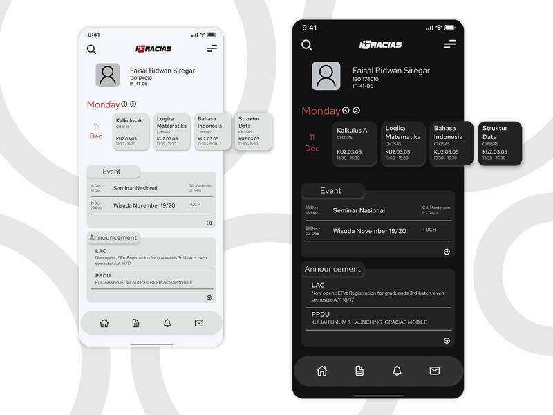 iGracias Redesign with Dark Mode iphone ui dark ui dark mode igracias