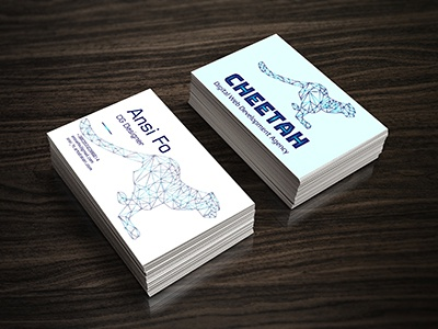 Logo on business card