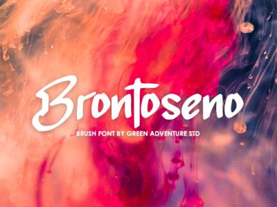 Brontoseno - Brush Font
