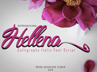 Hellena Italic-Calligraphy Italic Font Script