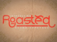 Roasted-Retro Typeface | New Product From Green Adventure Studio