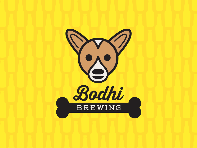 Bodhi Brewing lines graphic design typography brewery dog color pattern illustration design beer logo