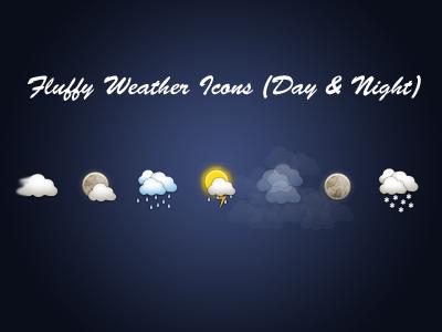 Freebie Friday (Fluffy Weather) freebie fluffy weather icons
