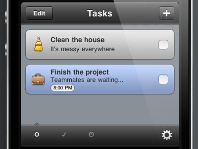 New Task Eater UI task eater taskeater iphone to-do todo