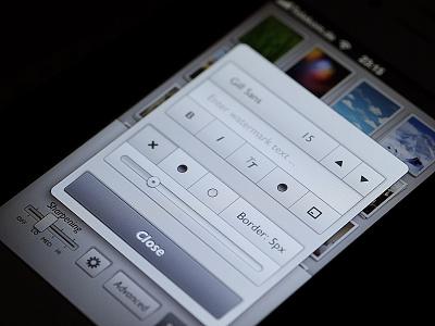 Advanced Popup ios iphone photo