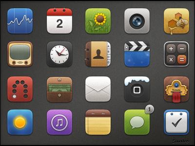 Suave iphone theme icons ios