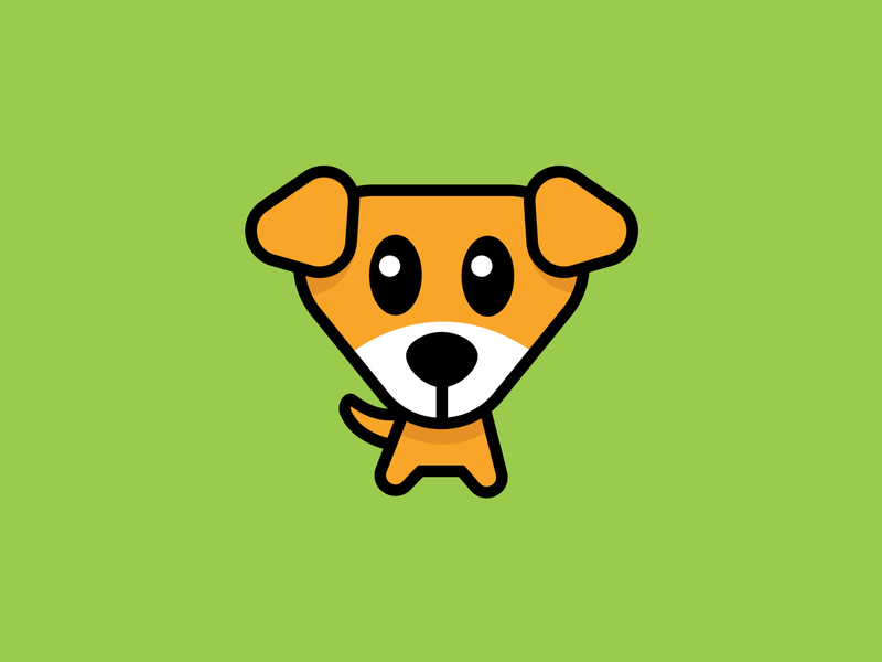 Cute Dog Cartoon animal dog flat vector minimal logo design logotype mascot cartoon illustration logo