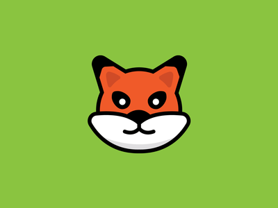 Cute Fox Cartoon mascot fox friendly animal cartoon character cartoon graphic design logo design vector illustration minimal icon flat branding logo