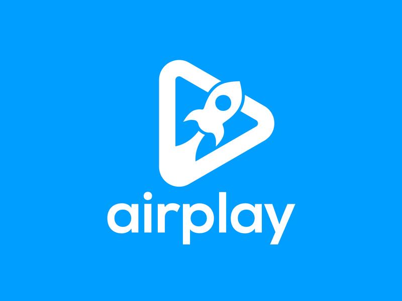 AIRPLAY - Logo Design illustrator identity icon vector minimal logo illustration graphic design flat design branding
