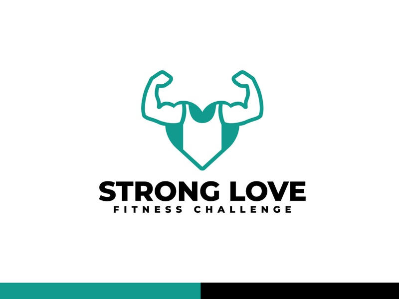 STRONG LOVE - Logo Design modern website logo modern logo gym program logo logo design logotype fitness club fitness center workout gym fitness challenge fitness logo fitness graphic design minimal identity flat icon branding logo