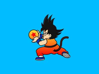 GOKU - Character Design cartoon illustration cartoon character cartooning cartoons logo logotype logodesign mascotlogo logo design mascot logo character design mascot character dragon ballz dragon ball mascot design cartoon mascot