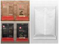 Sachet mock up snack shiny sack sachet product mockup powder bag pouch packet packaging package design mockup matt bag kakao powder food bag doypack doy container coffee bag coffee artboards