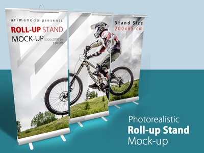 Roll-up Stand Mock up