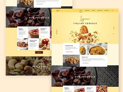 Cereal Company UI illustration art ideas create dribbble uxdesign inspiration creativedesign design uiux userinterface website foodui uidesign ui