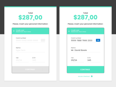 Credit Card Checkout sketch e-commerce flat form checkout credit card payment