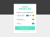 Checkout - Payment method selection