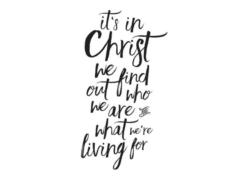 Ephesians 1:11 MSG jesus hand written hand drawn type bible