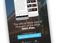 YouVersion promotional material at the Museum of the Bible