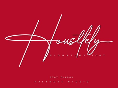 Housttelly / Signature Style typography